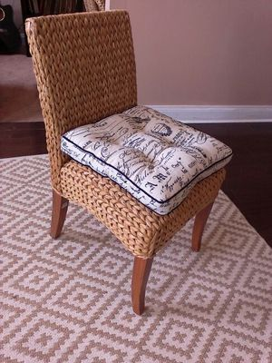 2 Seagrass Side Chairs from Pottery Barn in Honey Color for Sale in Baltimore, MD