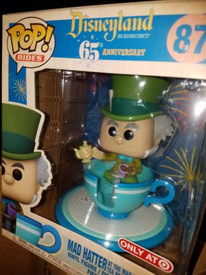 Funko pop mad Hatter at the tea party Disneyland 65th Anniversary for Sale in Ontario, CA