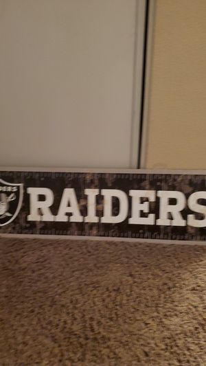 Raider wooden sign for Sale in Moreno Valley, CA