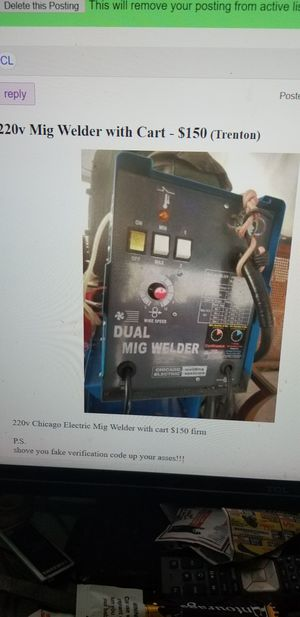 220v Chicago Electric MIG Welder for Sale in Ewing Township, NJ