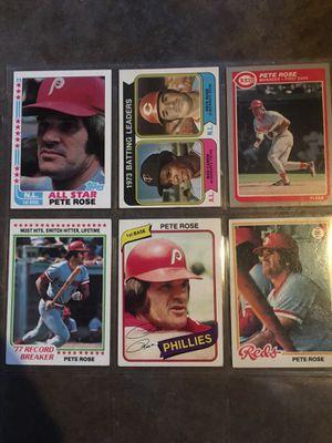 6 Pete Rose baseball cards for Sale in Fullerton, CA