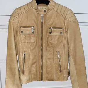 NEW Authentic MICHAEL KORS Leather Moto Jacket for Sale in Union City, NJ