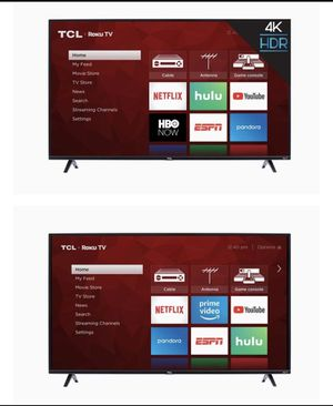 """EUC TCL 55"""" HDTV with Roku for Sale in Columbus, MS"""