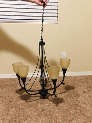 Beautiful Semi new 5 light bronze chandelier for sale. for Sale in Yuma, AZ