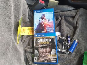 PS4 battlefield 5 PS4 call of duty world war gold edition for Sale in Garden City, MI