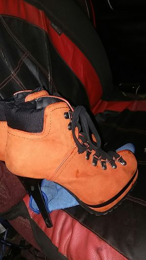 Orange Suede Stiletto Hiking Boot for Sale in Pinellas Park, FL