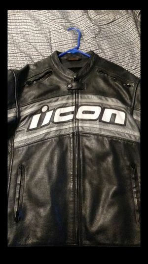 Icon leather jacket size LG for Sale in Colton, CA