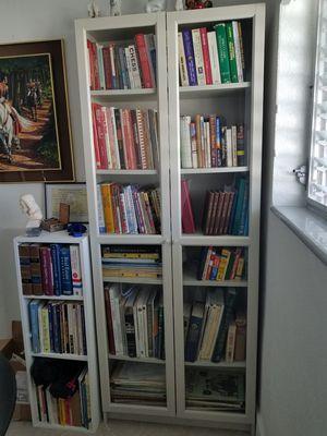 Wooden Bookshelf + 3-Shelf Organizer for Sale in Hollywood, FL