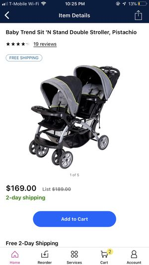 Baby trend sit n stand double stroller for Sale in Washington, DC