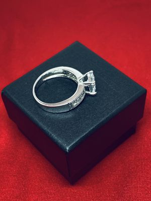 Princess cut 925 sterling silver ring, size 8 for Sale in Whittier, CA