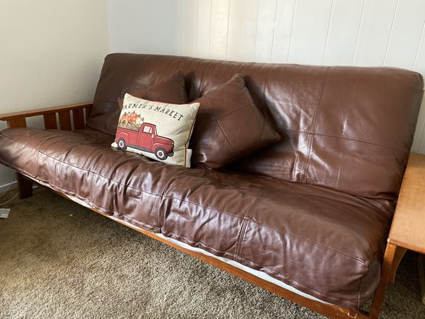 Leather futon couch for sale