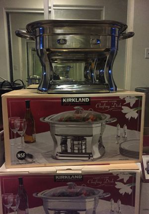5 New stainless steel Kirkland Chafing Dish for Sale in Norco, CA