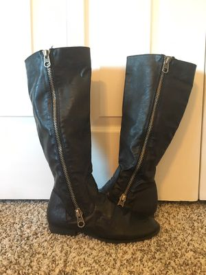 Black tall boots for Sale in Millersville, MD