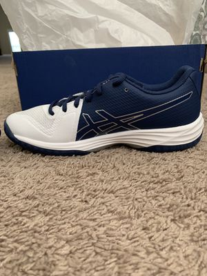 New GEL-TACTIC Women asics with tag size 7.5 White/Deep Ocean for Sale in Arrington, TN