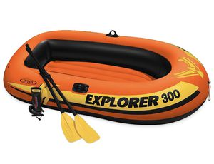Intex Explorer 300 Compact Inflatable Three Person Raft Boat for Sale in undefined