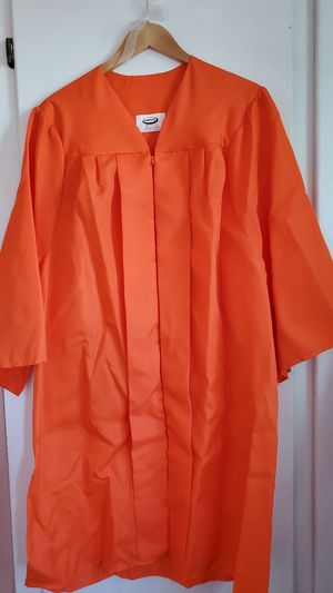 Orange graduation cap and gown for Sale in Newark, CA