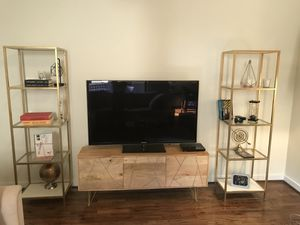 Tv, console and bookshelves for Sale in Houston, TX