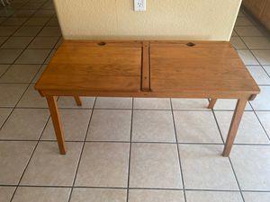 Rare Vintage Antique Oak dual children's desk for Sale in Lake Elsinore, CA