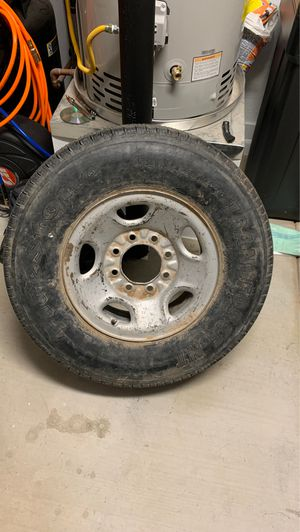 Chevy 2500 3500 8 lug wheel and tire Silverado Sierra for Sale in Gilbert, AZ