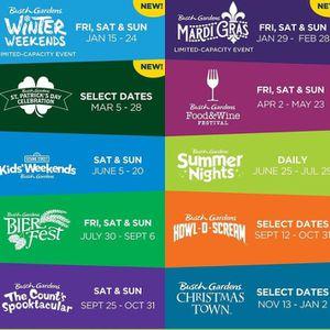Busch Gardens Day Passes for Sale in Newport News, VA