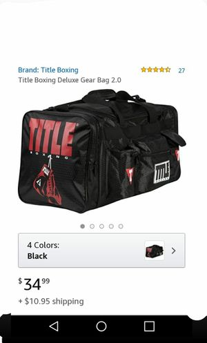 Black Title Bo1xing deluxe gear bag 2.0 for Sale in Fresno, CA