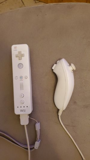 Wii controller and nunchuck for Sale in Santa Ana, CA