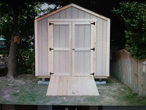 BRAND NEW WOODEN 8X8X8 A FRAME SHED BUILT ON SITE for Sale in Norfolk, VA