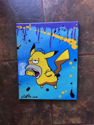 Abstract funny art 150$ original painting 1/1 for Sale in San Diego, CA