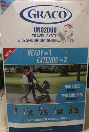 Graco UNO2DUO Travel System with Click Connect - New in the Box! for Sale in Knoxville, TN