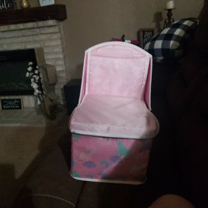 Cute Pink Seat With Storage We Used For Dolls And Toys for Sale in Riverside, CA