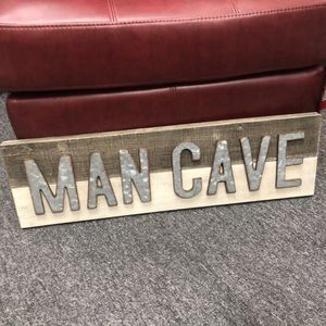 """Brand New Man Cave Sign (Dimensions: 28.5""""x8.5"""") for Sale in North Las Vegas, NV"""