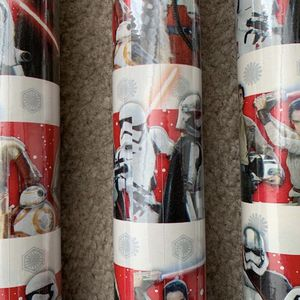 STAR WARS CHRISTMAS WRAPPING PAPER NEW 3 ROLL FOR $5 6 ROLLS FOR $10 for Sale in Victorville, CA