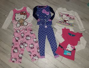Lot of 6 Super Cute Girls HELLO KITTY Sleep PJ Pajama Sets Shirts Pants Sz 2T for Sale in Garden Grove, CA