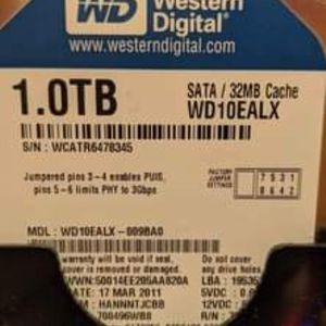 1TB SATA HDD Western Digital WD10EALX for Sale in San Jose, CA