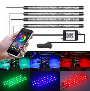 🔥🚨NEW RBG LED CAR INTERIOR LIGHTING KIT W/REMOTE! PLUG &PLAY! 🚨🔥 for Sale in Ontario, CA