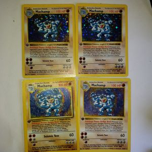 LOT OF 4 HOLO FIRST EDITION MACHAMPS for Sale in Seattle, WA
