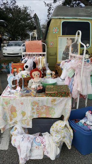 Saturday Antique fair baby toddler girl boy vintage Pyrex housewares Oshkosh dress dresses for Sale in Pompano Beach, FL