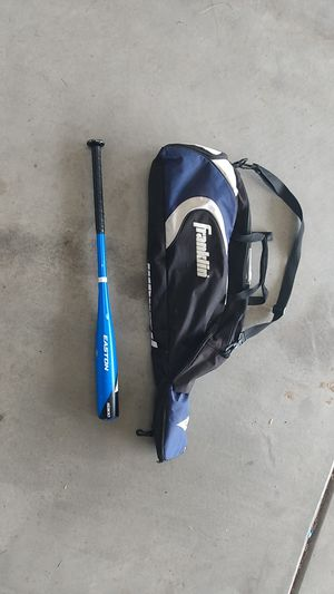 Easton bat and Franklin baseball bag for Sale in Meridian, ID