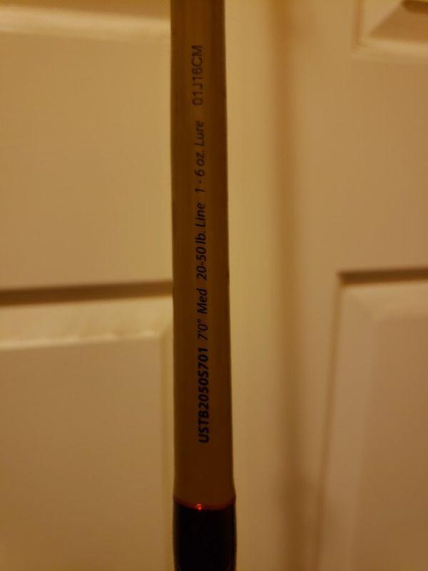 Penn battle 2 6000 50lb braid. Ugly stick tiger rod