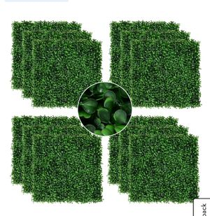 """20""""X 20"""" 12pieces Artificial Boxwood hedge mat plant panels grass wall backdrop for indoor outdoor lightgreen for Sale in Bakersfield, CA"""