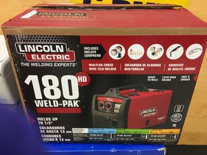Lincoln 180 amp weld-pak 180hd mig wire feed welder new for Sale in Orlando, FL