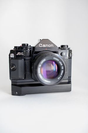 Canon A-1 35mm slr film camera w/ Canon FD 50mm F 1.4 + A2 power winder. for Sale in Laguna Niguel, CA
