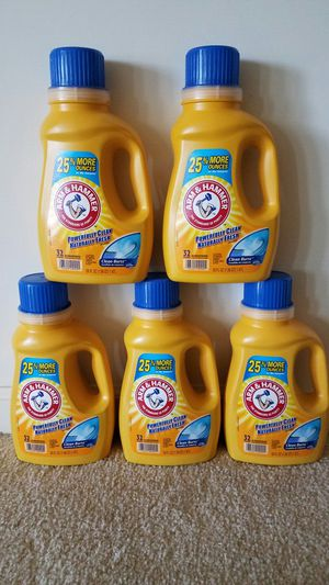 5 new Arm and Hammer 50 oz liquid laundry detergent for $15 - price firm for Sale in Rockville, MD