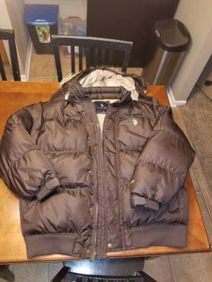 U.S. Polo Assoc. Brown puffy jacket Men's XXL for Sale in Galloway, OH