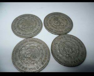 4x un peso de plata/Silver Mexican coins for Sale in Chicago, IL