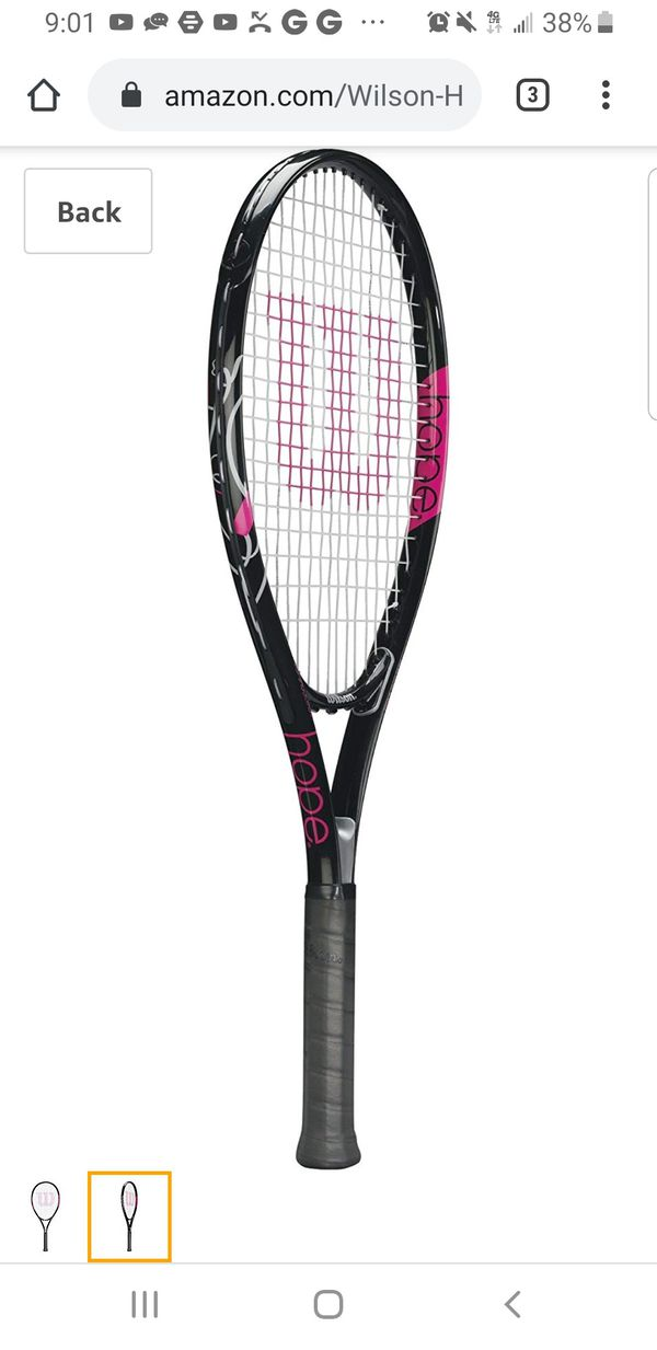 Wilson Hope -NEW size 4 1/2 tennis rackets, with matching pink back brace, women's size small