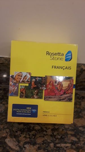 Rosetta stone french for Sale in Tampa, FL