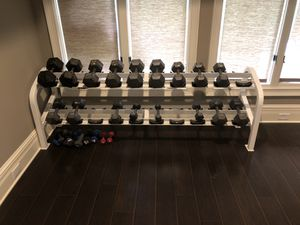 2 tier rack with/without Dumbbells for Sale in Duluth, GA