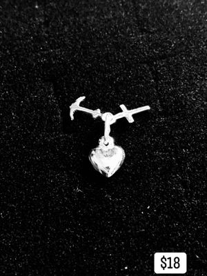 Silver Heart Cross Anchor Charm for Sale in Long Beach, CA