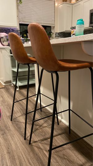 Cognac leather barstools for Sale in Happy Valley, OR